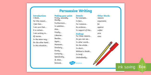 persuasive writing introductory paragraph review answer key