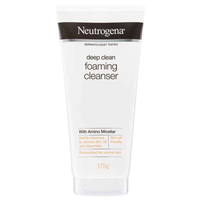neutrogena deep clean acne foaming wash review