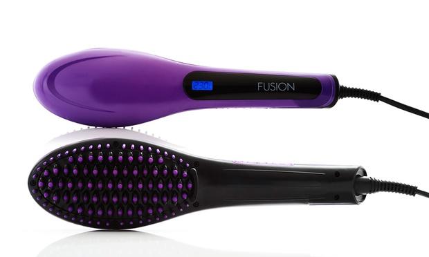 fusion hair straightening brush review