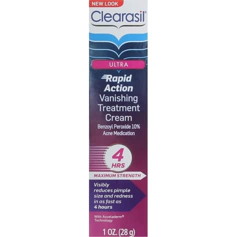 clearasil ultra rapid treatment cream review
