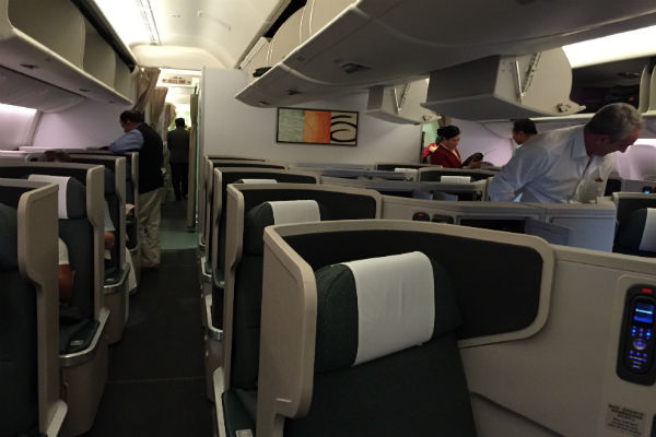 cathay pacific sfo to hkg business class review